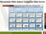 memindah slide dalam tampilan slide sorter1