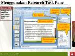 menggunakan research task pane1