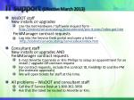 it support effective march 2013