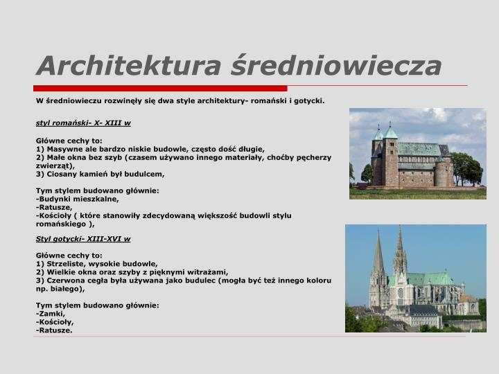 Architektura średniowiecza