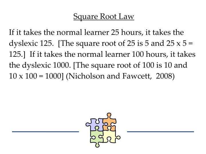 Square Root Law