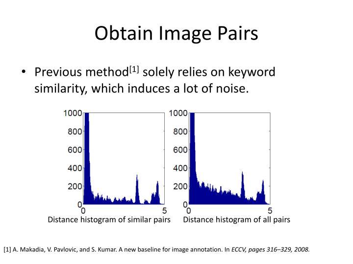 Obtain Image Pairs