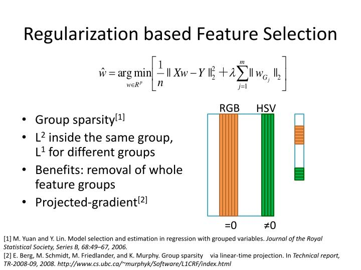 Regularization based Feature Selection