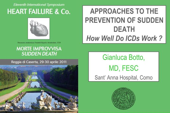 APPROACHES TO THE PREVENTION OF SUDDEN DEATH