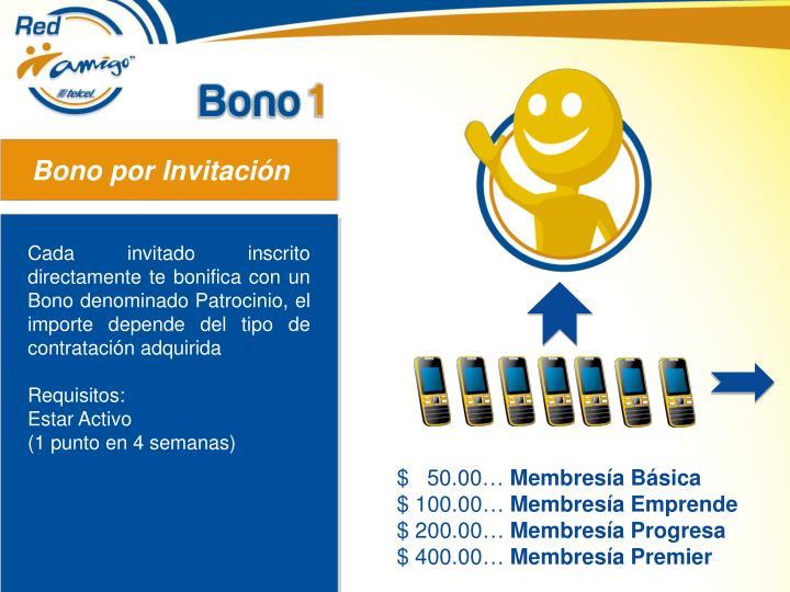 Bono por Invitación
