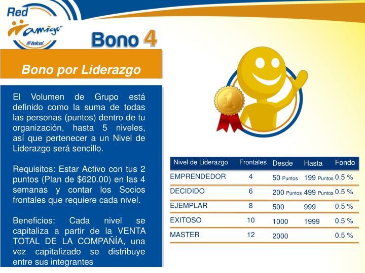 Bono por Liderazgo