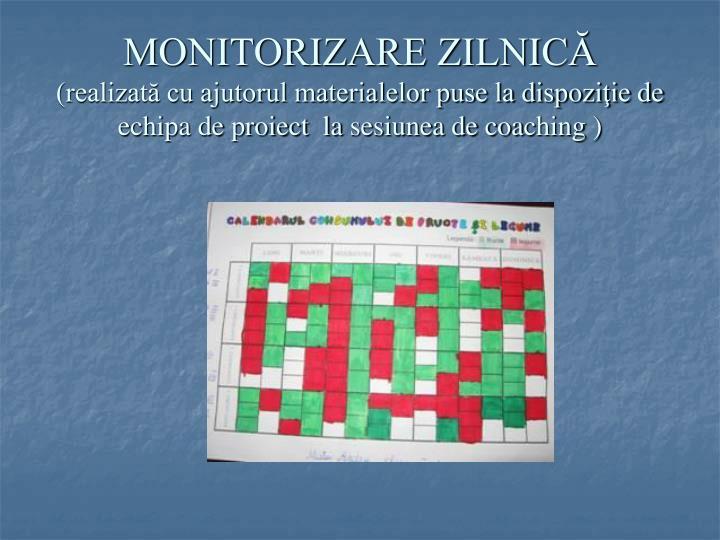 MONITORIZARE ZILNICĂ