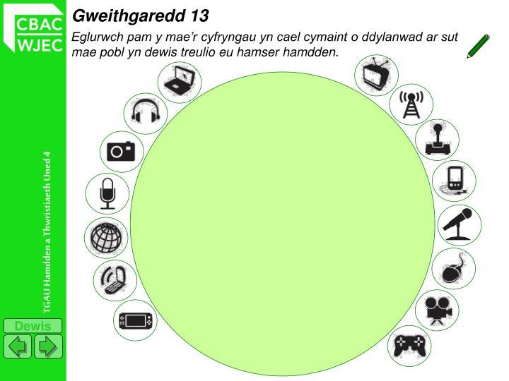 Gweithgaredd 13