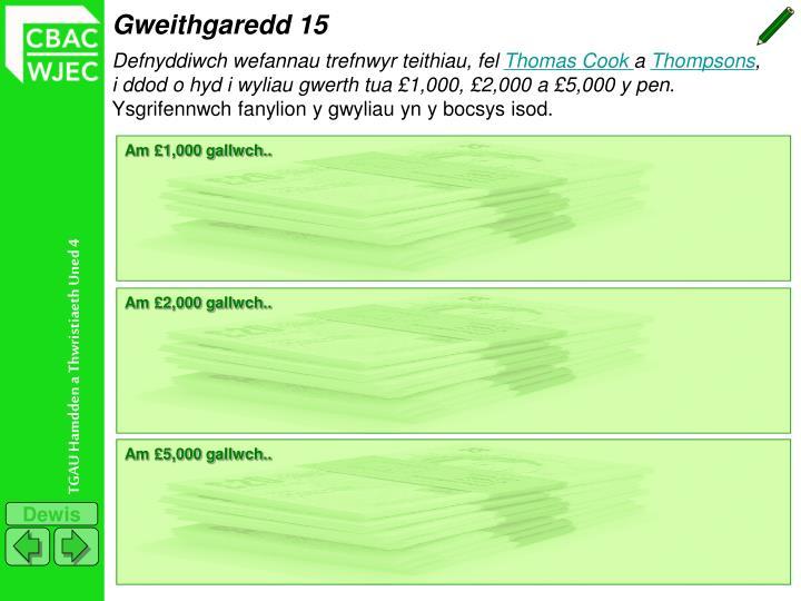 Gweithgaredd 15