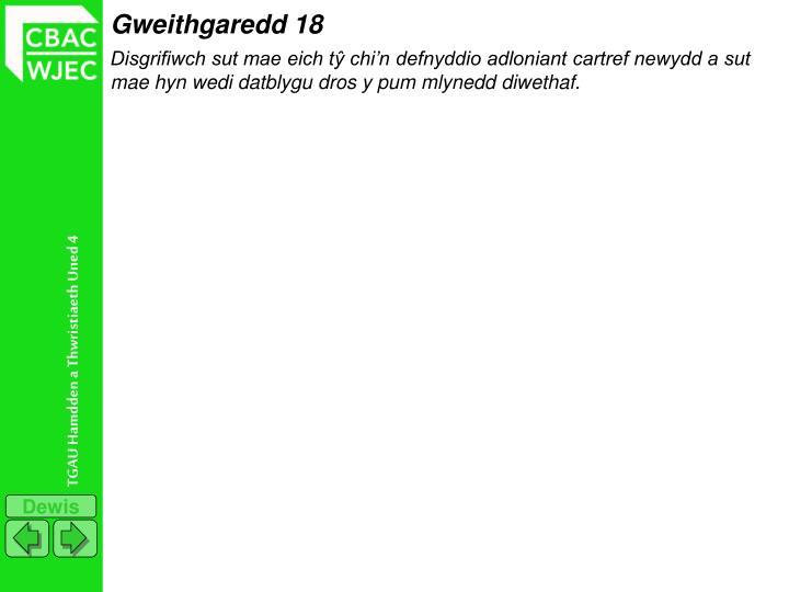 Gweithgaredd 18