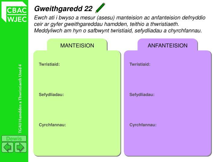 Gweithgaredd 22