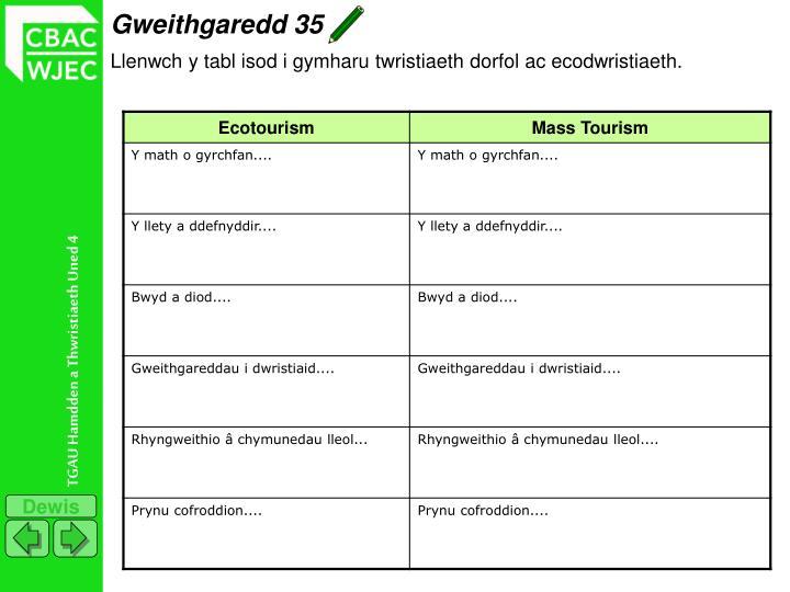 Gweithgaredd 35