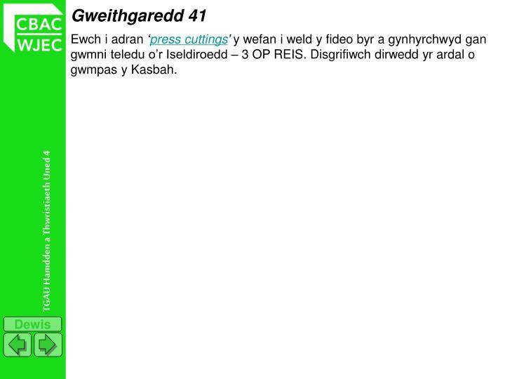 Gweithgaredd 41