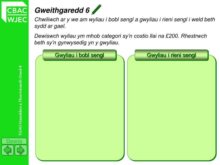 Gweithgaredd 6