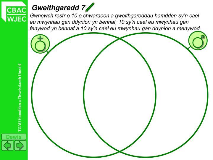 Gweithgaredd 7