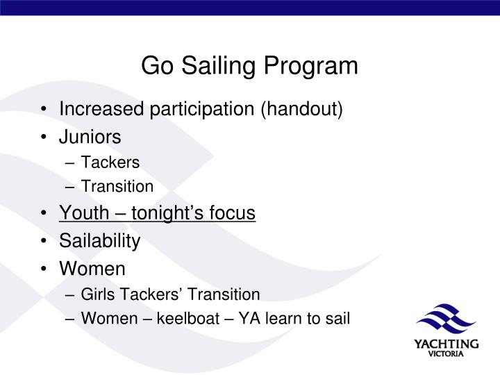 Go Sailing Program