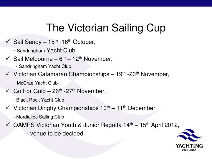 The Victorian Sailing Cup
