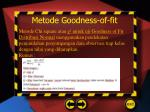 metode goodness of fit