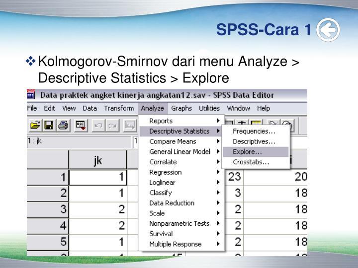 SPSS-Cara 1