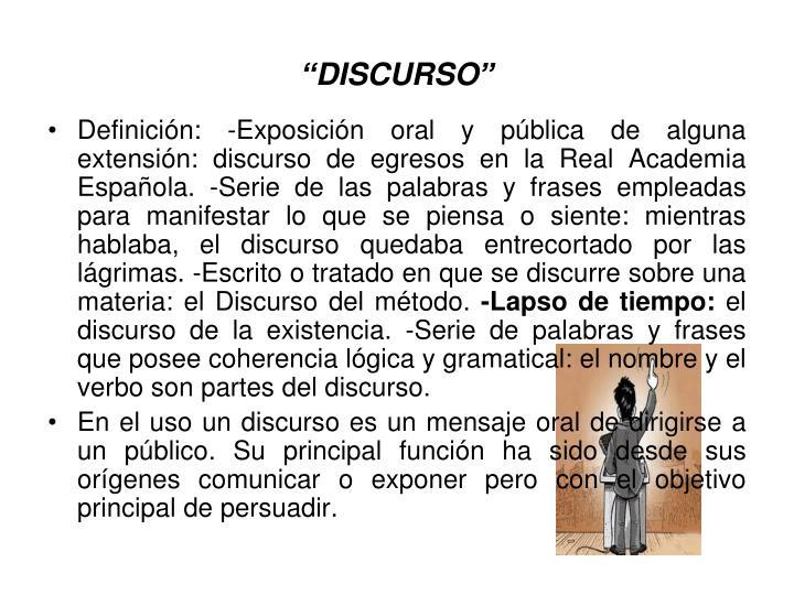 """""""DISCURSO"""""""