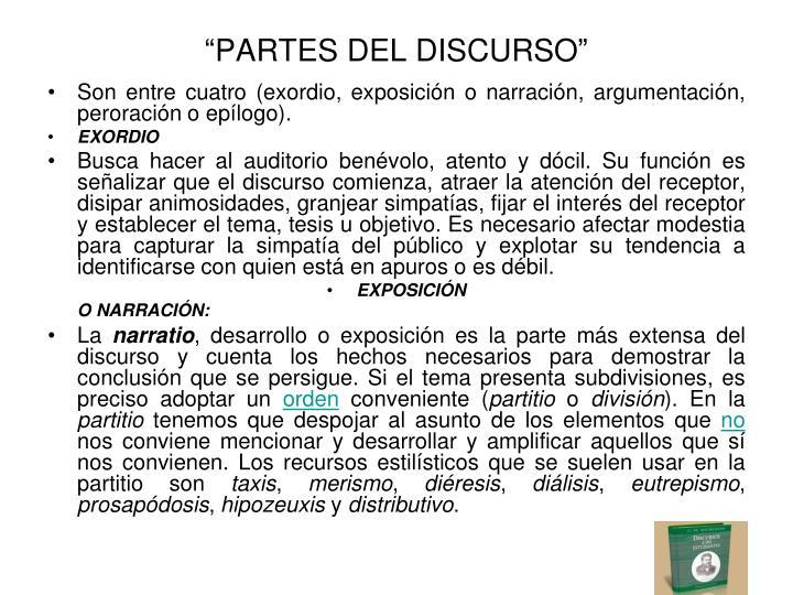 """""""PARTES DEL DISCURSO"""""""