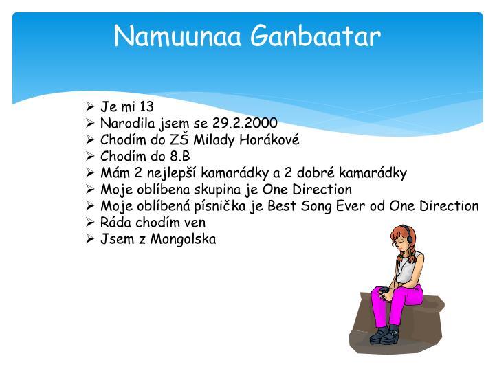 Namuunaa Ganbaatar
