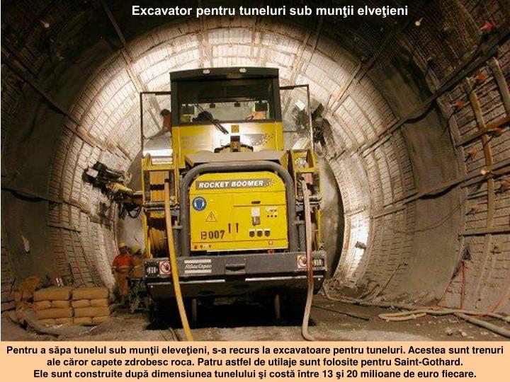 Excavator pentru tuneluri sub munţii elveţieni