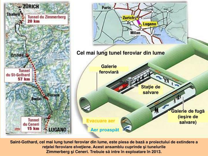 Cel mai lung tunel feroviar din lume