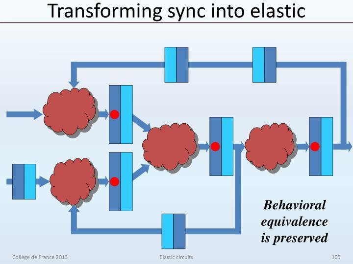 Transforming sync into