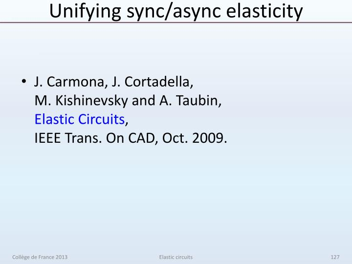 Unifying sync/