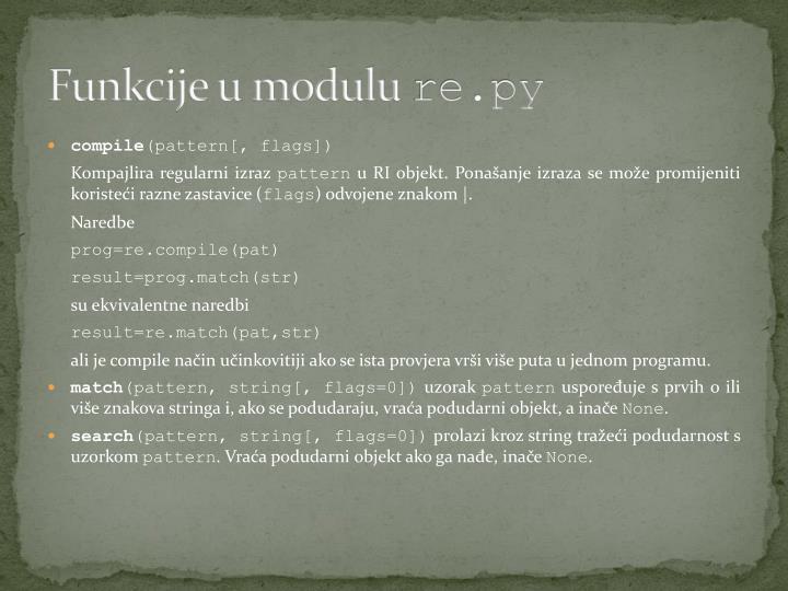 Funkcije u modulu