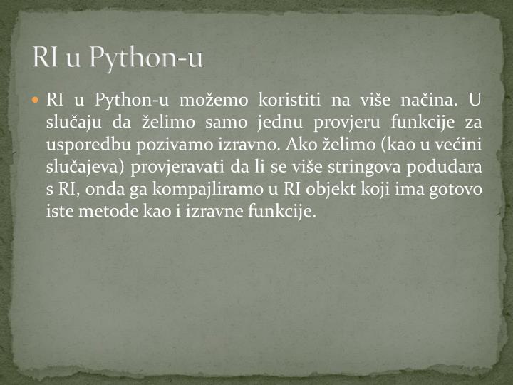 RI u Python-u