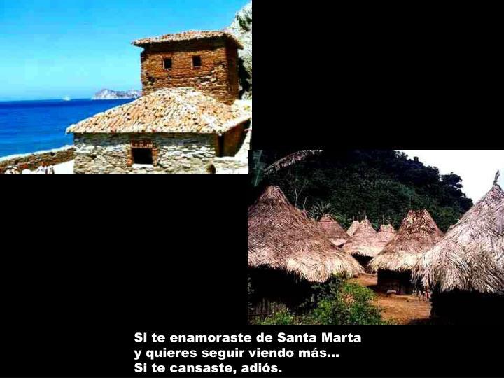 Si te enamoraste de Santa Marta