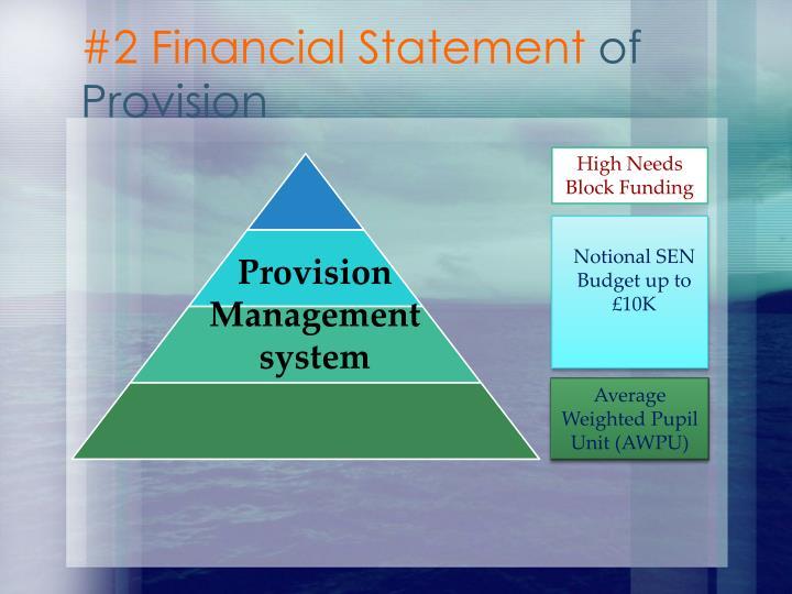 #2 Financial Statement