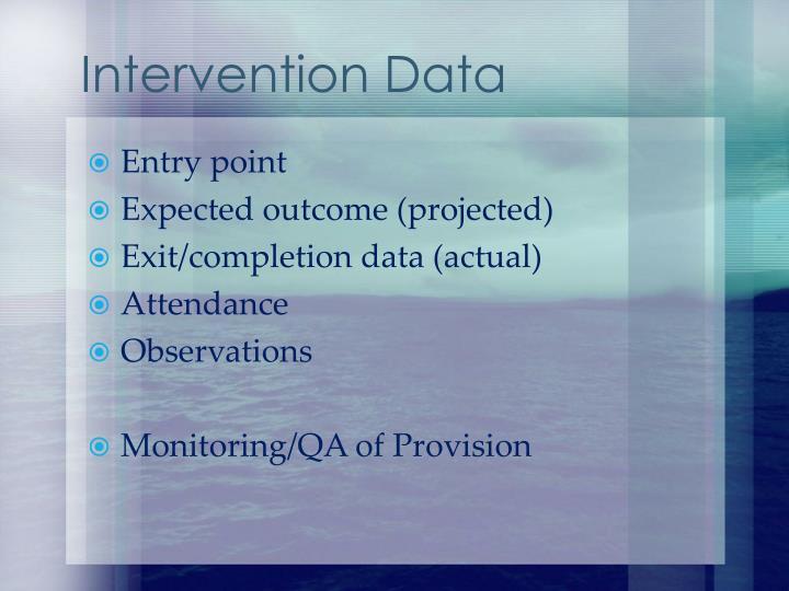 Intervention Data