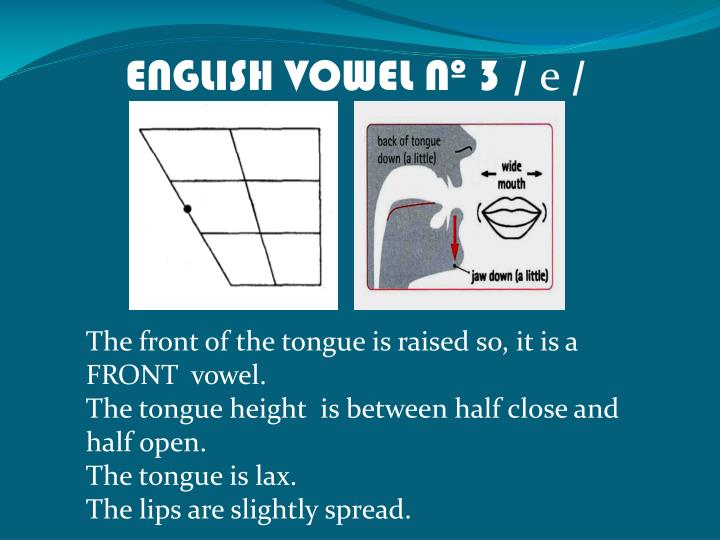 ENGLISH VOWEL Nº 3 /