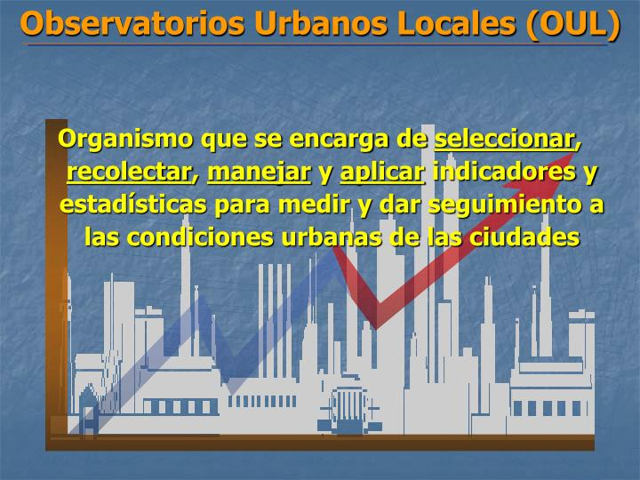 Observatorios Urbanos Locales (OUL)