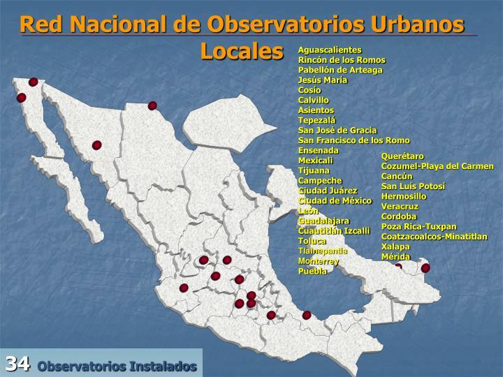 Red Nacional de Observatorios Urbanos Locales