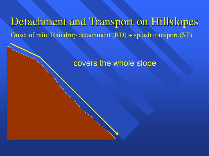 Detachment and Transport on Hillslopes