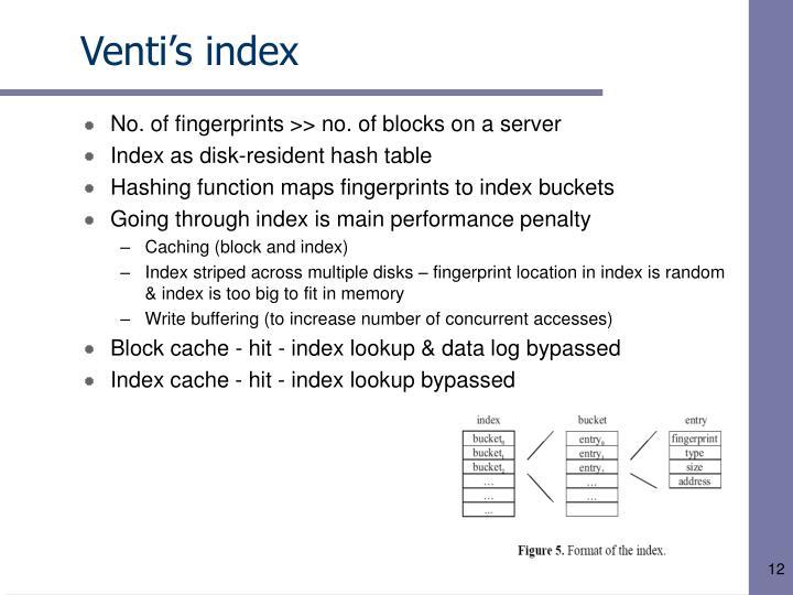 Venti's index