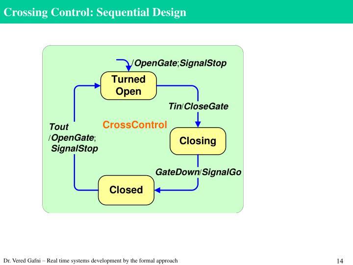 Crossing Control: Sequential Design