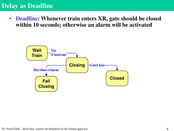 Delay as Deadline