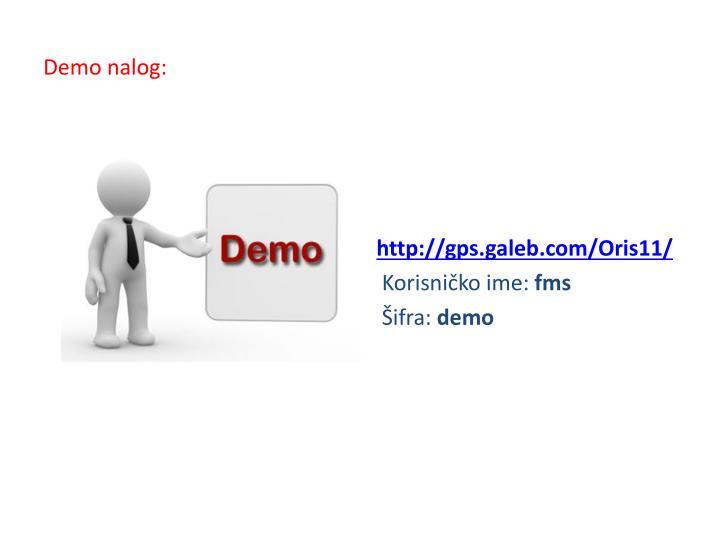 Demo nalog: