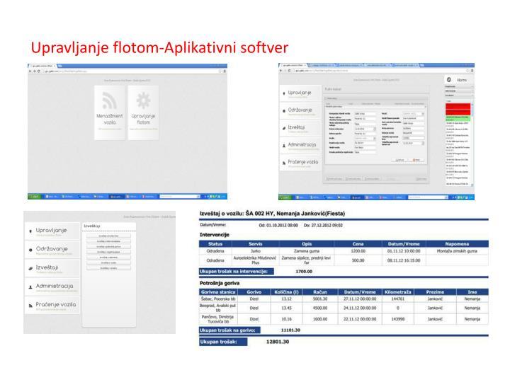 Upravljanje flotom-Aplikativni softver