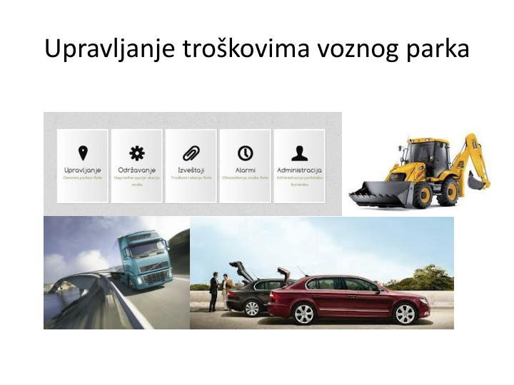 Upravljanje troškovima voznog parka