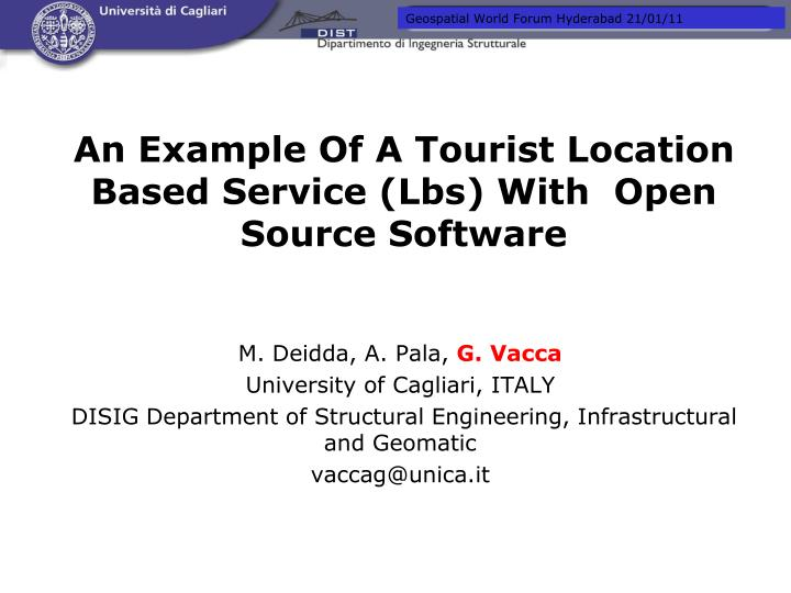 an example of a tourist location based service lbs with open source software