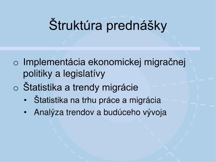 Štruktúra prednášky