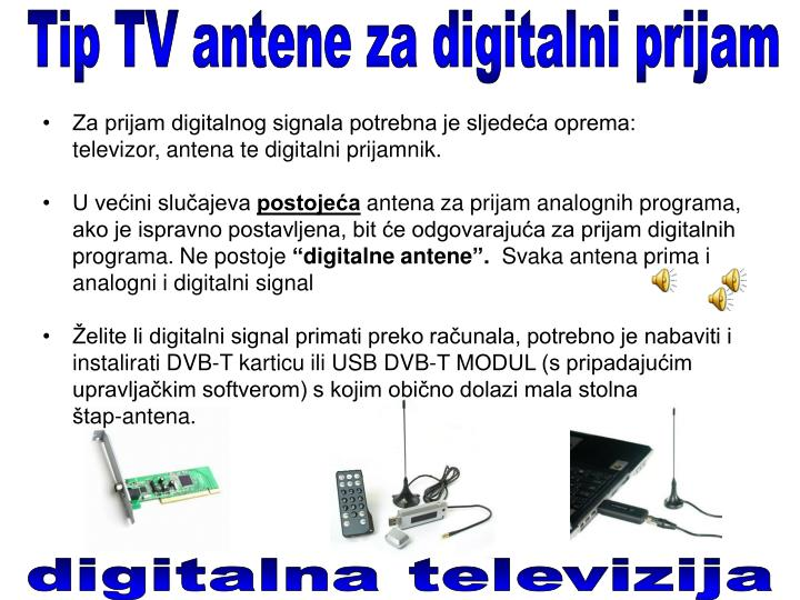 Tip TV antene za digitalni prijam