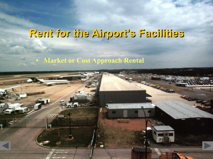 Rent for the Airport's Facilities