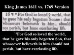king james 1611 vs 1769 version